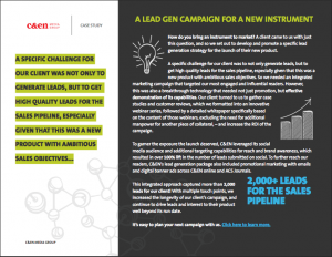 Lead Generation Case Study Science Marketing